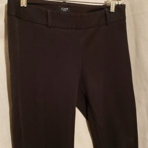 J Crew Stretch City Fit Sz 2 Black Crop Pants
